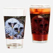 Twin Peeps Drinking Glass