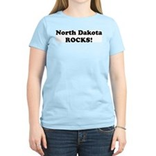 North Dakota Rocks! Women's Pink T-Shirt