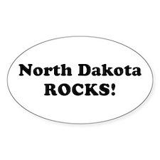 North Dakota Rocks! Oval Decal