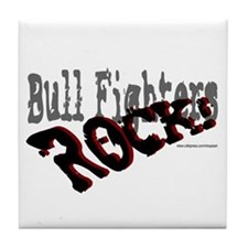 Bull Fighters ROCK! Tile Coaster