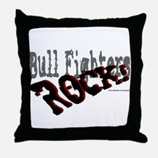 Bull Fighters ROCK! Throw Pillow