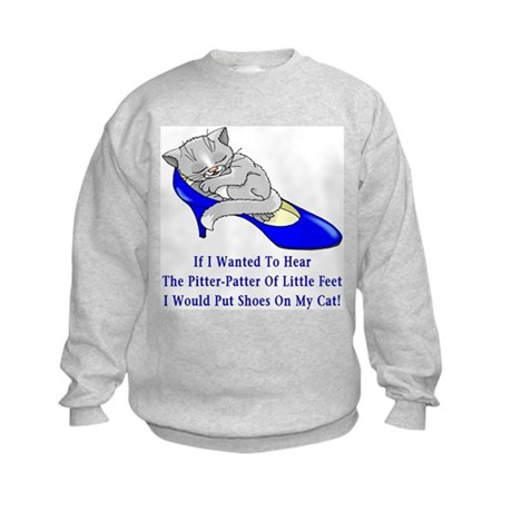 Cat Shoes Kids Sweatshirt