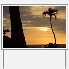 Lone Palm Sunset Yard Sign