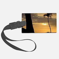 Lone Palm Sunset Luggage Tag