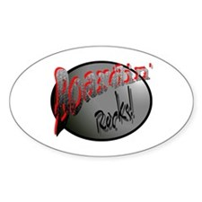 Boardin' Rocks! Oval Decal