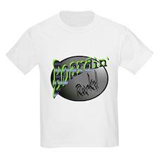 Boardin' Rocks! - Green Kids T-Shirt