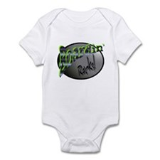 Boardin' Rocks! - Green Infant Bodysuit
