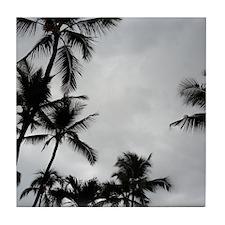 Palm Trees Sillouette Tile Coaster