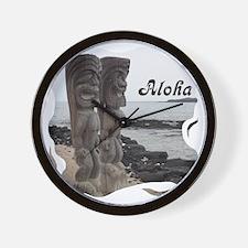 Place of Refuge Tikis Aloha Wall Clock