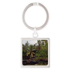 Queens Bath Square Keychain