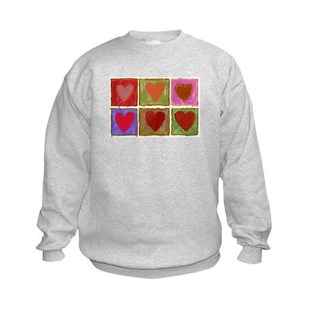 Warhol Hearts 3 Kids Sweatshirt