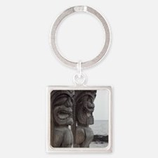 Place of Refuge Tikis Square Keychain