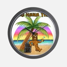 Pau Hana Tiki Wall Clock