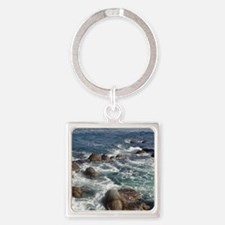 California Ocean 01 Square Keychain