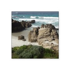 "California Ocean 03 Square Sticker 3"" x 3"""