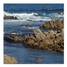 "California Ocean 02 Square Car Magnet 3"" x 3"""