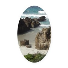 California Ocean 03 Oval Car Magnet