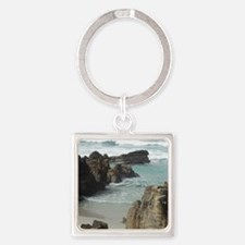 California Ocean 05 Square Keychain