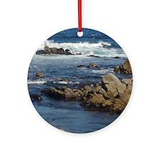 California Ocean 02 Round Ornament