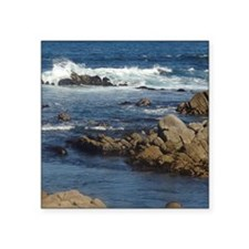 "California Ocean 02 Square Sticker 3"" x 3"""
