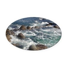 California Ocean 01 Oval Car Magnet