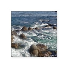 "California Ocean 01 Square Sticker 3"" x 3"""
