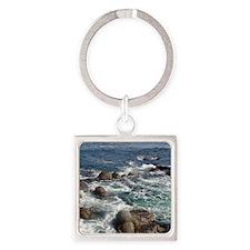 California Ocean 01 Square Keychain
