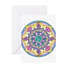 Rangoli Om Mandala Greeting Card