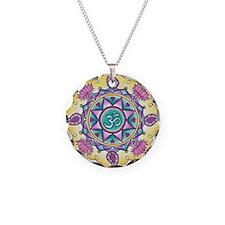 Rangoli Om Mandala Necklace Circle Charm