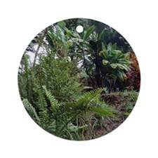 Tropical Jungle 3 Round Ornament