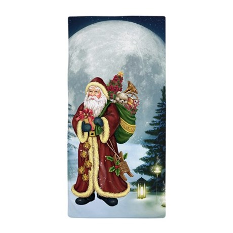 Santa Claus In The Forest Towel