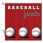 Baseball Fanatic Shower Curtain