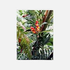 Tropical Flowers 5'x7'Area Rug