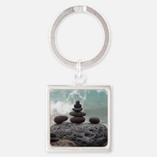 Ocean Serenity Square Keychain