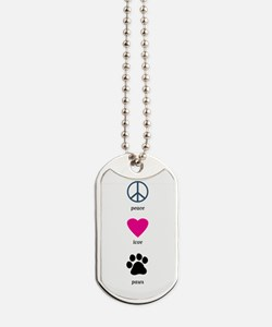 Peace Love Paws Dog Tags