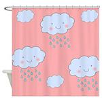 Cute Cartoon Clouds Shower Curtain