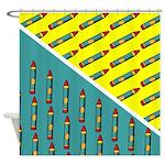 Kids Crayon Design Shower Curtain