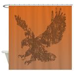 Grunge Eagle Design Shower Curtain