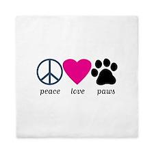 Peace Love Paws Queen Duvet