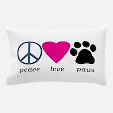 Peace Love Paws Pillow Case