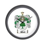 Wood Coat of Arms Family Crest Wall Clock