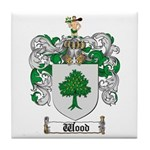 Wood Coat of Arms Family Crest Tile Coaster