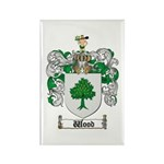 Wood Coat of Arms Family Crest Rectangle Magnet (1