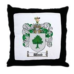 Wood Coat of Arms Family Crest Throw Pillow