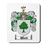 Wood Coat of Arms Family Crest Mousepad