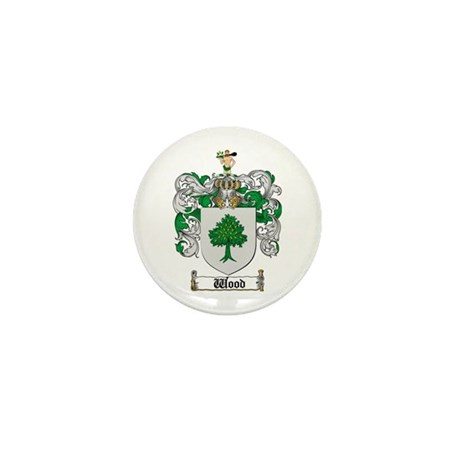 Wood Coat of Arms Family Crest Mini Button (10 pac