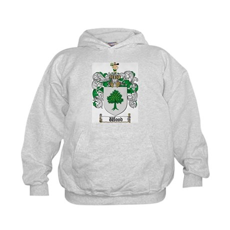Wood Coat of Arms Family Crest Kids Hoodie