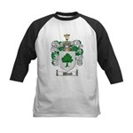 Wood Coat of Arms Family Crest Kids Baseball Jerse