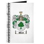 Wood Coat of Arms Family Crest Journal