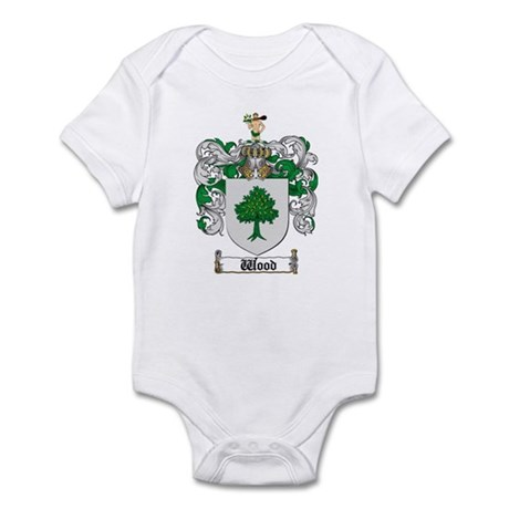 Wood Coat of Arms Family Crest Infant Bodysuit